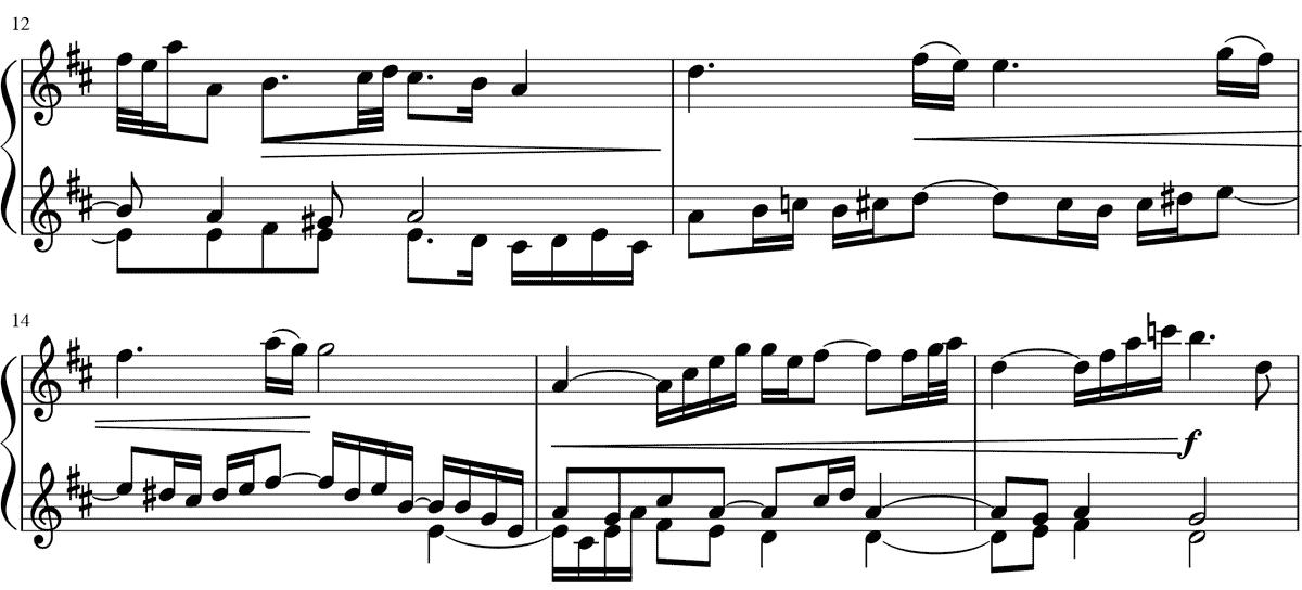 リコネクションは音楽であるのを示した楽譜