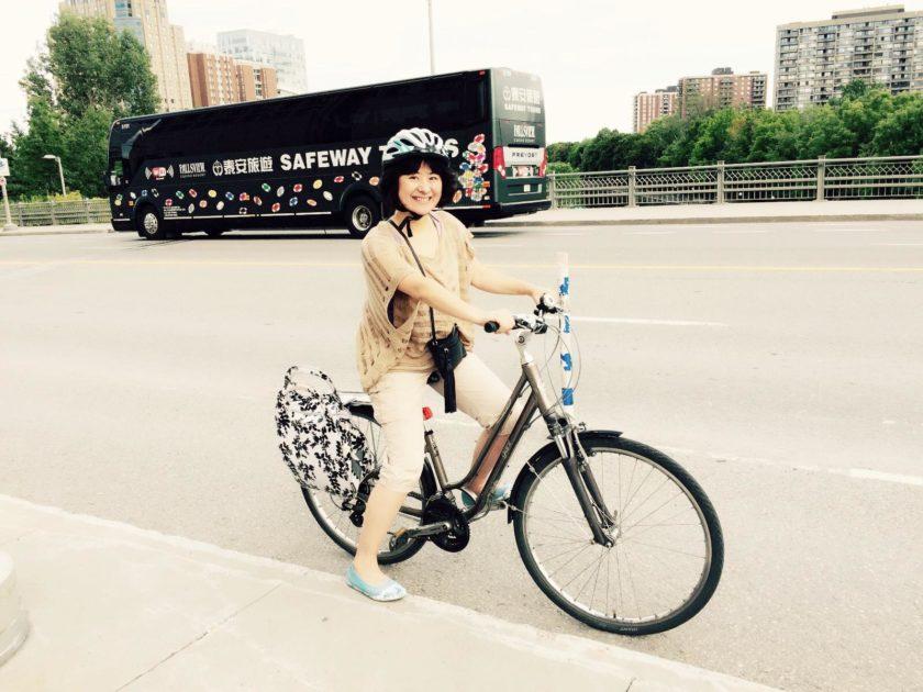 リコネクションのセミナーで使う英語習得のためにイングリッシュスクールに自転車で通う江藤美智子